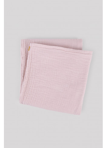 Grand plaid drap double gaze de coton rose Les pensionnaires